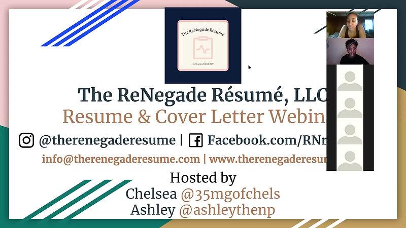 Résumé & Cover Letter Webinar