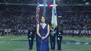 Andrea Lynn Cianflone sings National Anthem at NFL Game