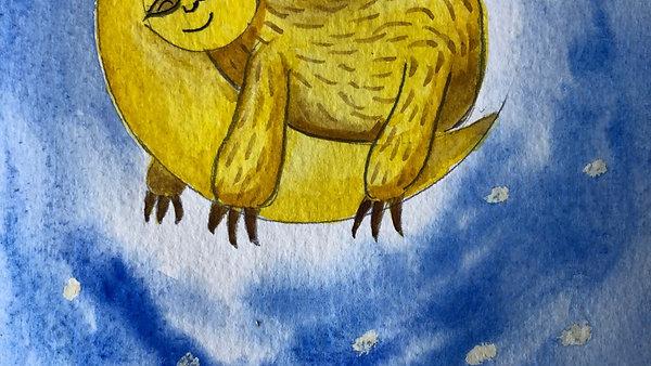Sloth Watercolour Tutorial