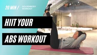 20 Minuten Hiit your abs Workout - Hardcore Bauch und Intervall - NO EQUIPMENT