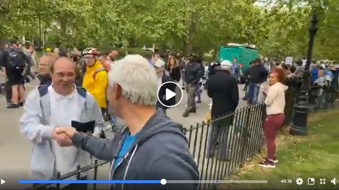 Jon Wedger Live 16th May Protest London