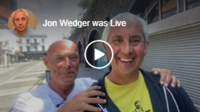 Jon Wedger with Darren (Thank you for all the support!)