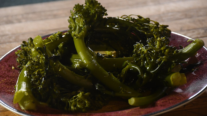Broccolini, Steamed and Seared