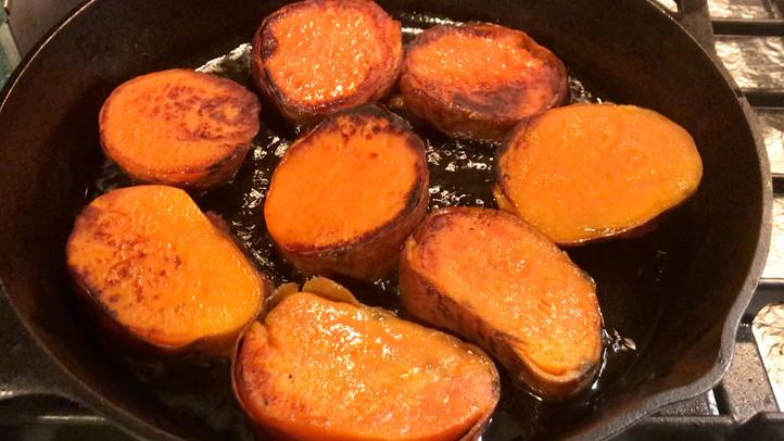 Braised Sweet Potato Medallions