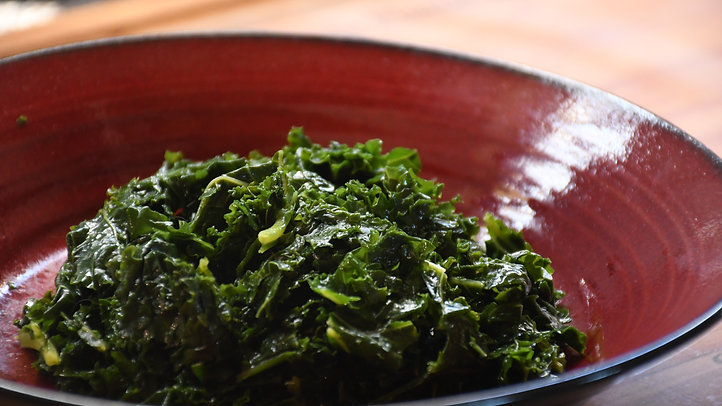 Wilted Frozen Kale