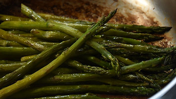 Asparagus Steamed and seared