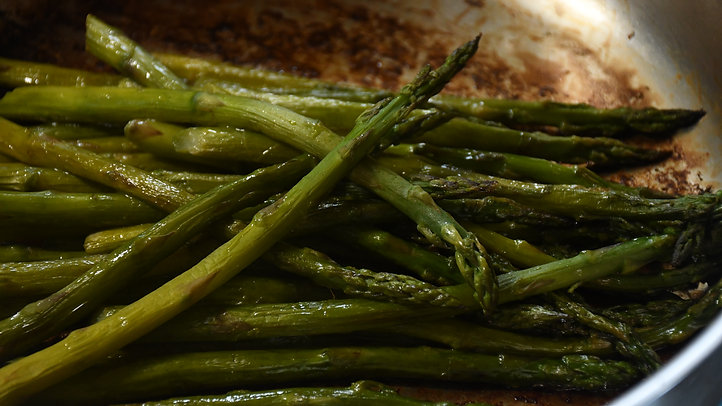Asparagus, Steamed and Seared