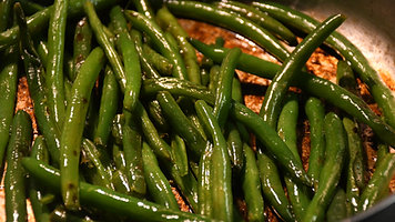Green Beans Steamed and seared