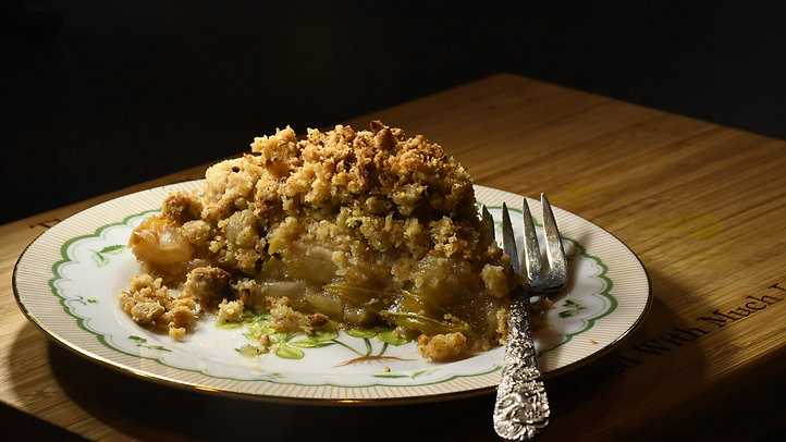 Apple Ginger Crumble
