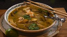 Thai seafood coconut soup