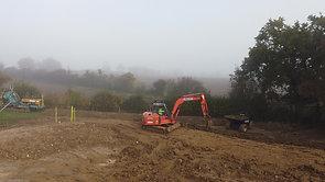 Attenuation pond & land drainage