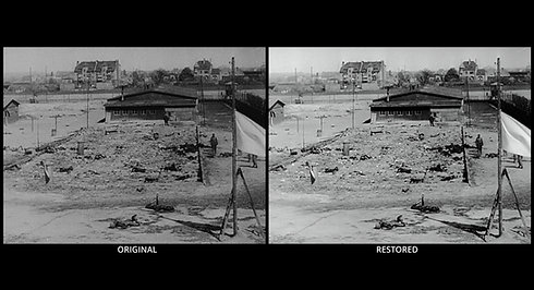 Nazi Concentration Camp Before and After Restoration