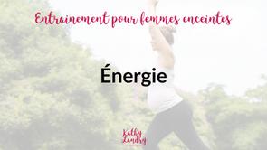 Entraînement pour booster ton niveau d'énergie