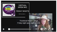 Virtual Friday Night Open Mic 11.13.2020