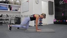 High Plank Step in and Out