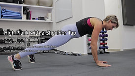High Plank with a Shoulder Tap
