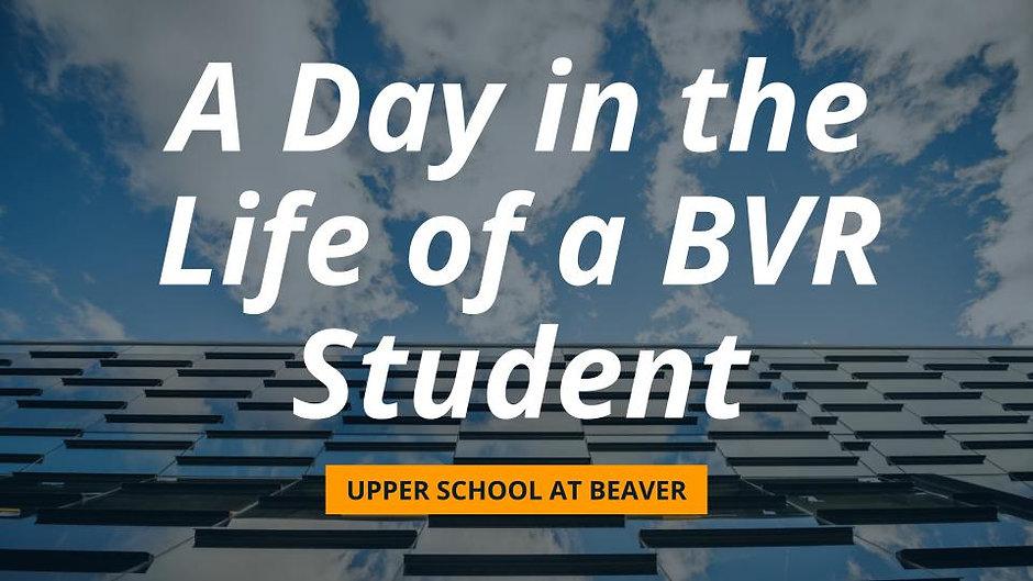 Upper School at BVR: Admission Information Event