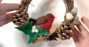 Robin On Wreath Tutorial