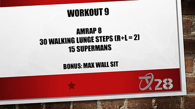 T28 Challenge Workout 9