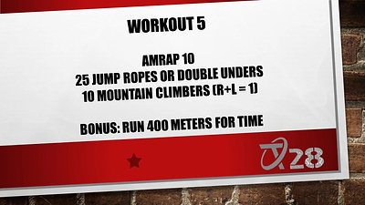 T28 Challenge Workout 5