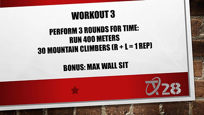 T28 Challenge Workout 3