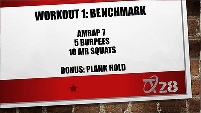 T28 Challenge Workout 1