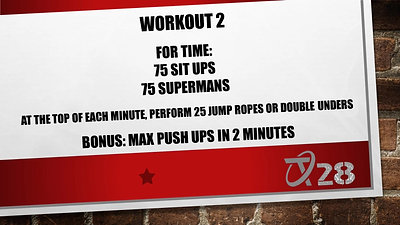 T28 Challenge Workout 2