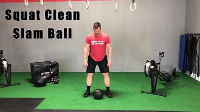 T28 Squat Clean Slam Ball