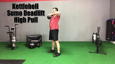 T28 Kettlebell Sumo Deadlift High Pull