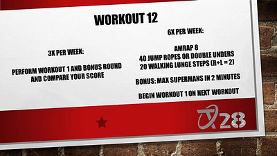 T28 Challenge Workout 12