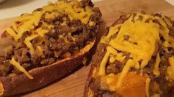 Sweet Potato Lean Beef Boats