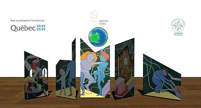 animation panneau mural