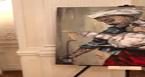 Video footage of paintings