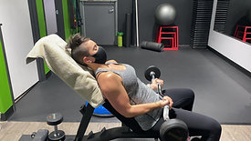 INCLINE EZ CURL BAR BICEP CURLS
