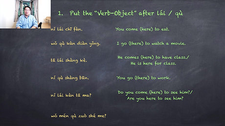 Tips Of Chinese: lái and qù
