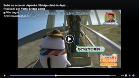 Subir ao arco em Japonês  /  Bridge climb in Japanese