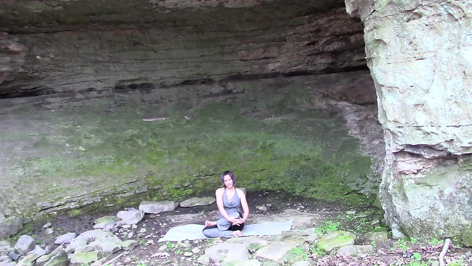 yoga in the cave
