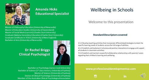 Wellbeing in Schools for Teachers