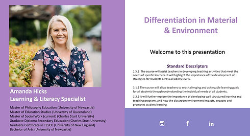 Differentiation in Material & Environment