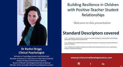 Resilience through teacher student relationships