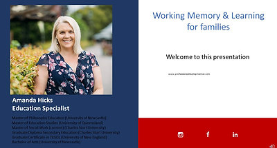 Working Memory families