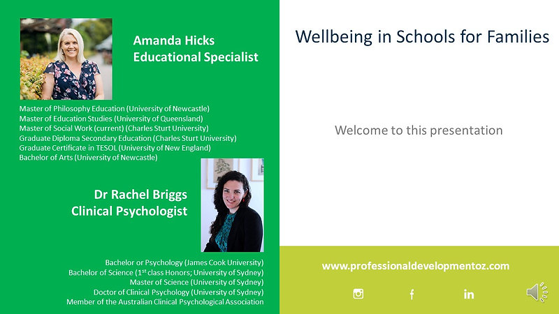 Wellbeing in Schools for Families