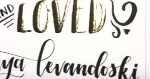 Hand Lettered and LOVED