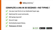 Complete a JHA in 50 secs + No typing!