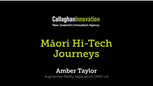 Amber Taylor, ARA Journeys co-founder, Māori Hi-Tech Award finalist