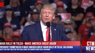 President Trump holds a Make America Great Again rally in Tulsa, Oklahoma  20 June 2020