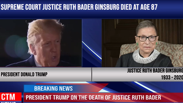 President Trump on the death of Justice Ruth Bader Ginsburg- -She was an amazing woman-