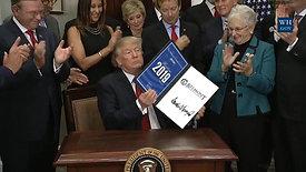 Trump signs Belmont's 2019 Award