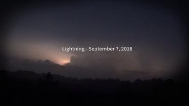 Lightning - September 7, 2018