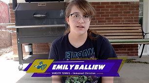 Emily Balliew-Varsity Tennis